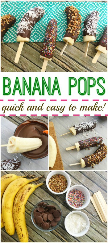 Looking for quick and easy treat? Try these Banana Pops! Everyone will love 'em!