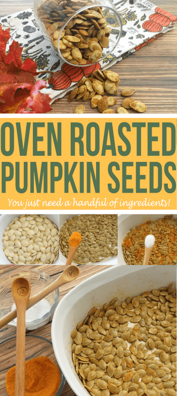 Keep the seeds from your pumpkins to make these delicious oven roasted pumpkin seeds!