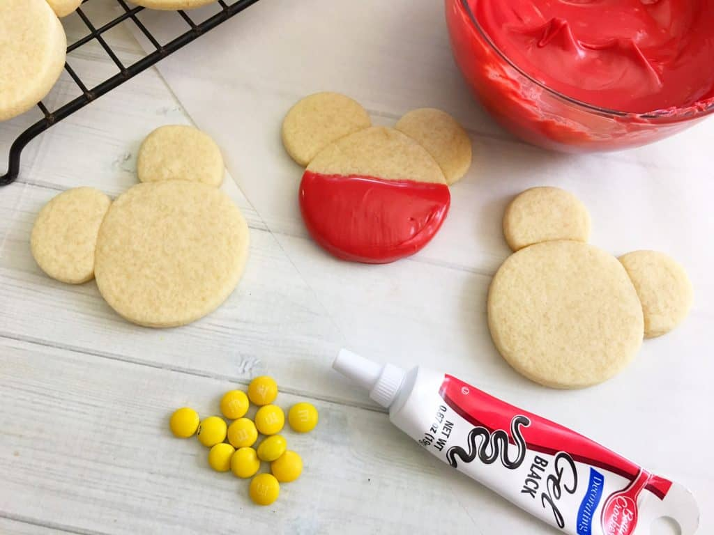 Mickey Mouse Homemade Cookies