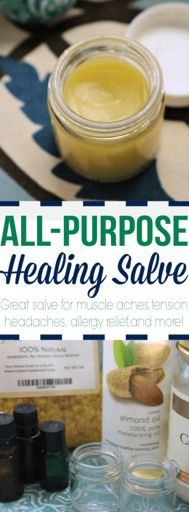 Try this all-purpose healing salve for muscle aches, headaches, allergy relief, and more!