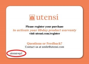 Registration Card with Production Run Example utensi