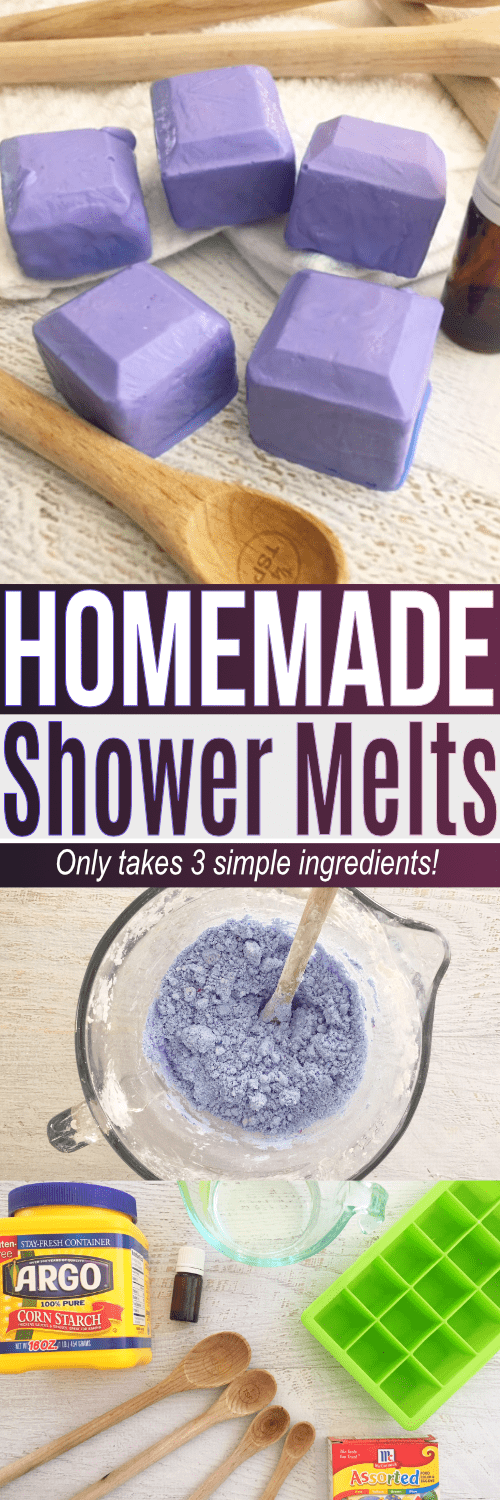 This shower melts DIY is an easy recipe using simple ingredients at home. If you are curious how to use essential oils in the shower this shower melts DIY is a great recipe to try!