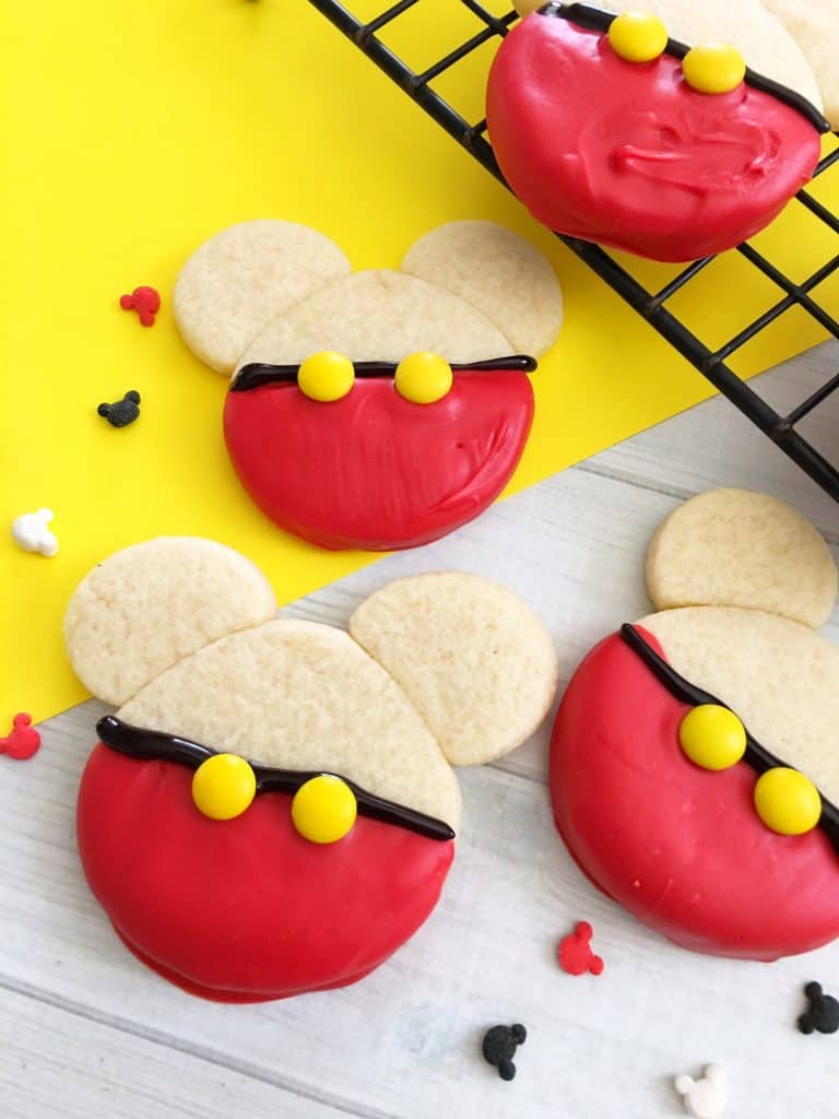 Homemade Mickey Mouse Cookies