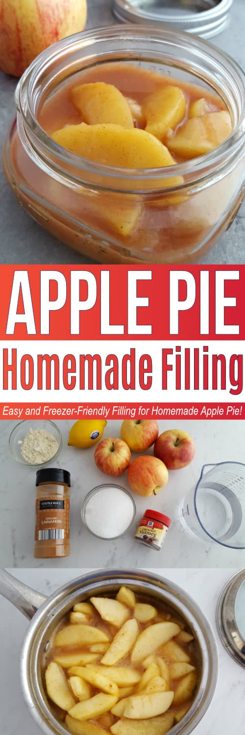 This Apple Pie Filling recipe turns out amazing and is SO EASY! This is a must-make if you are making a homemade apple pie. The apple filling is also freezer-friendly so make a big batch to use in future recipes! via @utensibrand