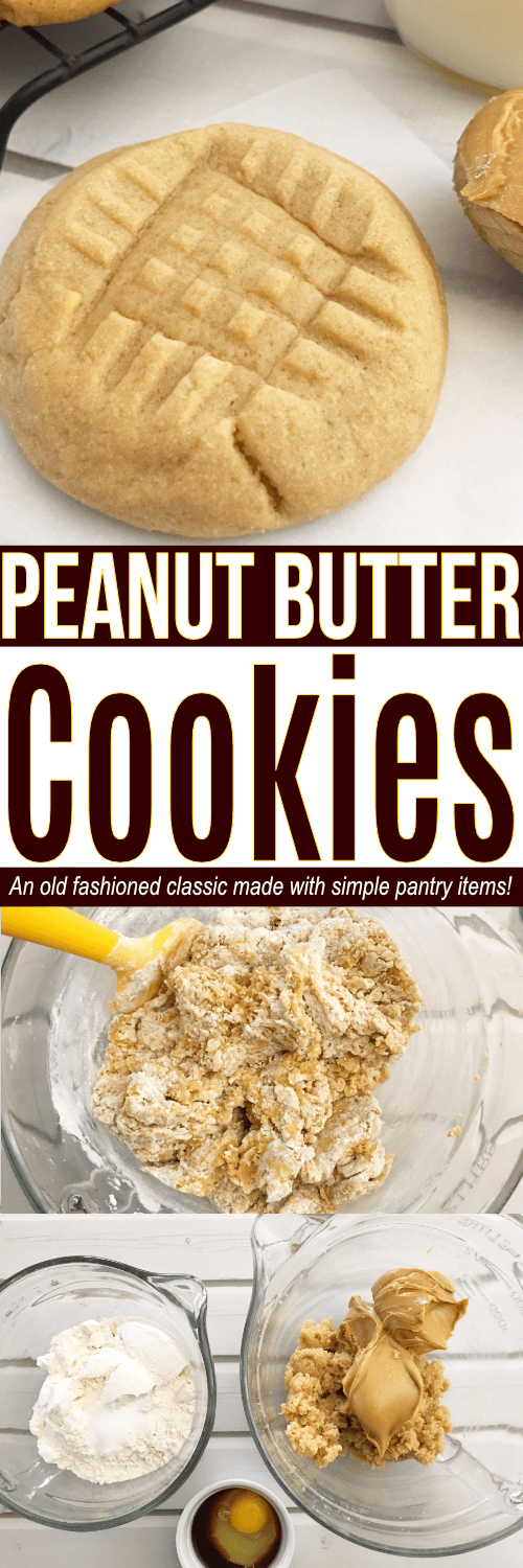 Looking for the best Peanut Butter cookies recipe? These easy Peanut Butter cookies are a classic! The list of ingredients for Peanut Butter cookies including simple everyday pantry items to make these easy cookies!