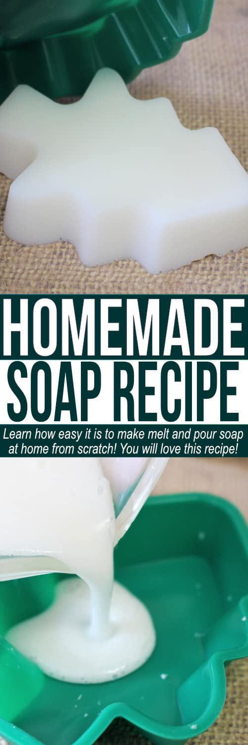 Easy Homemade Soap recipe if you want to learn how to make soap at home! This melt and pour soap recipe is simple and can be made fast! via @utensibrand